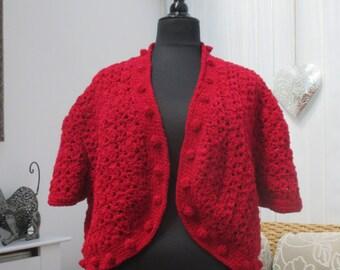 Plus size crochet bolero