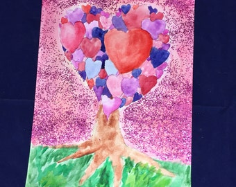 V-day-watercolor on watercolor paper