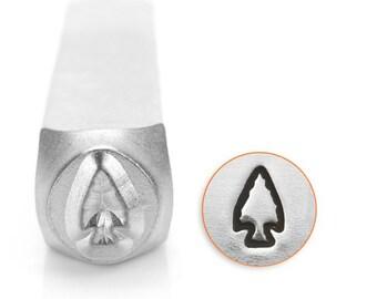Arrowhead Design Stamp- Metal Design Stamp ImpressArt- 6mm Design Stamp-Steel Stamps-NEW!