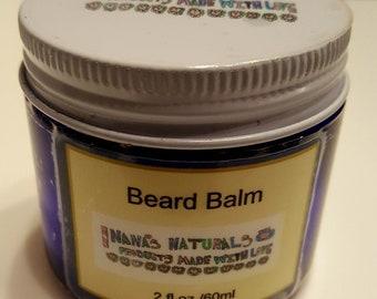 Beard Balm, Beard Conditioner, All Natural Beard Balm, Beard Grooming, Gift for him, Beard Butter, Beard Care for Men, 2 oz. Beard Balm