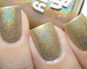 Holographic - Bling Bling: Custom-Blended Glitter Nail Polish / Indie Lacquer / Polish Me Silly