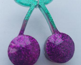 Cherry Glitter Necklace