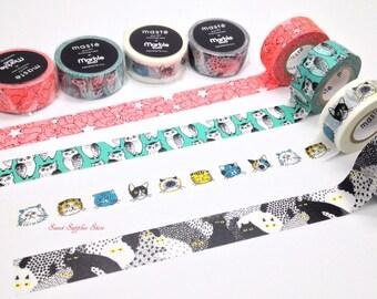 Animal Maste Polar Bear, Owl, Cat, Cat Pattern Japanese Washi Tape Masking Tape Price depends on order volume.