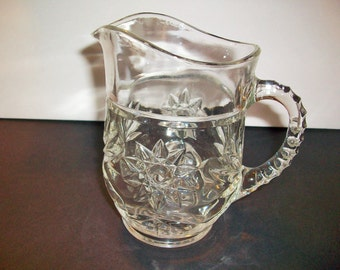 Clear Cut Lead Glass Syrup or Creamer Pitcher  bx2   486222987
