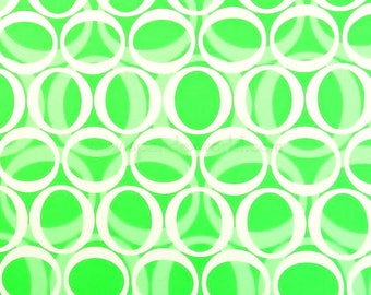 Scrappy's Nappies Lime Green & White Circle Abstract Print Fabric Choice