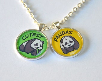 Cute Pandas Necklace - 2 Pendant