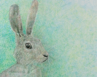 No More Rabbits, Giclée Print, Signed by Artist, Open Edition