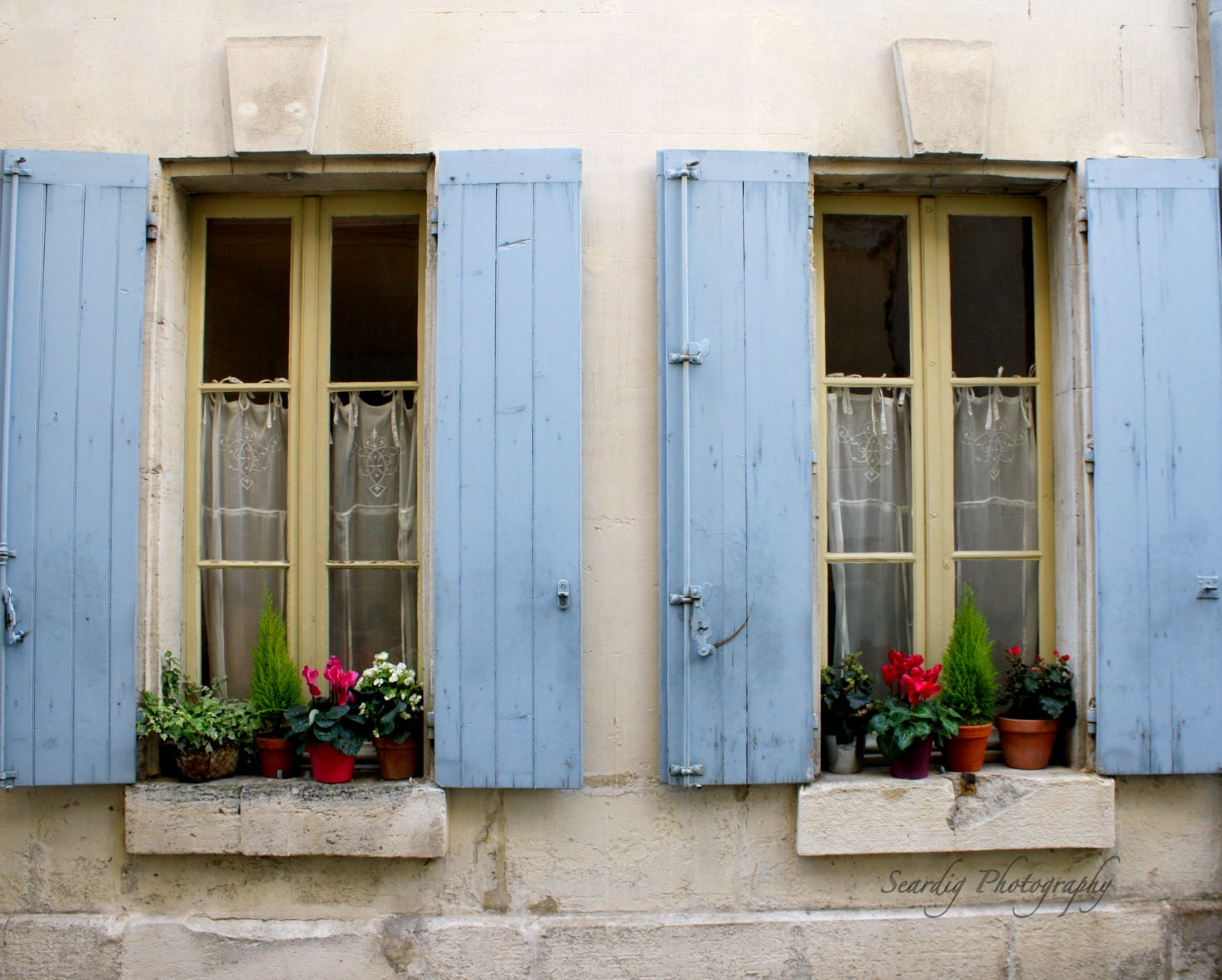 St Remy de Provence France. Rustic French Window Shutters