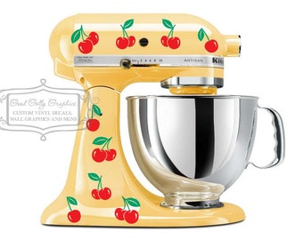 Kitchen mixer vinyl decal 28 two color sets of cherries