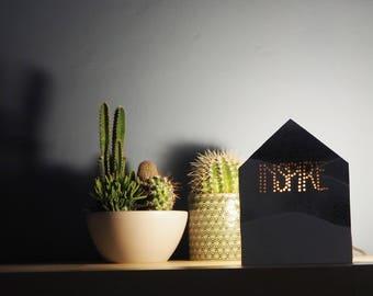 Watercolor lamp, Bedside table lamp, Cottage lamp, Design lamp, Desk lamp, Reading lamp, Gift for her, Nordic design lamp, Drawer lamp