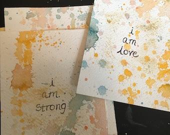 Affirmation Love Myself Handmade Cards