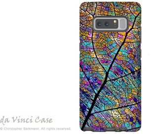 Colorful Galaxy Note 8 Case - Aspen Leaf Case for Samsung Galaxy Note 8 with Abstract Art - Stained Aspen - Premium Dual Layer Case