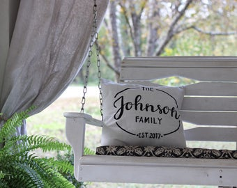 Family Name Pillow