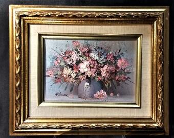 Small Wall Art. Still Life Oil Painting. Small Oil Painting. Impasto Medium.