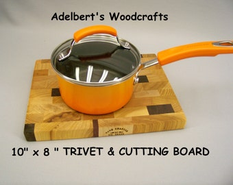 """10"""" x 8""""  Trivet or End Grain Cutting Board.  Shipped by priority mail 2 to 3 days delivery."""