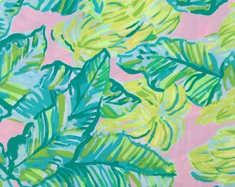"""local flavor organic cotton fabric square 14""""x14"""" ~ lilly spring 2018 ~ lilly pulitzer ~ pottery barn"""