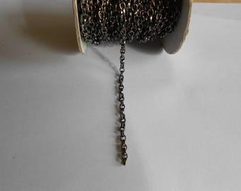 1 meter black gun metal chain 4.8 x 3.7 mm