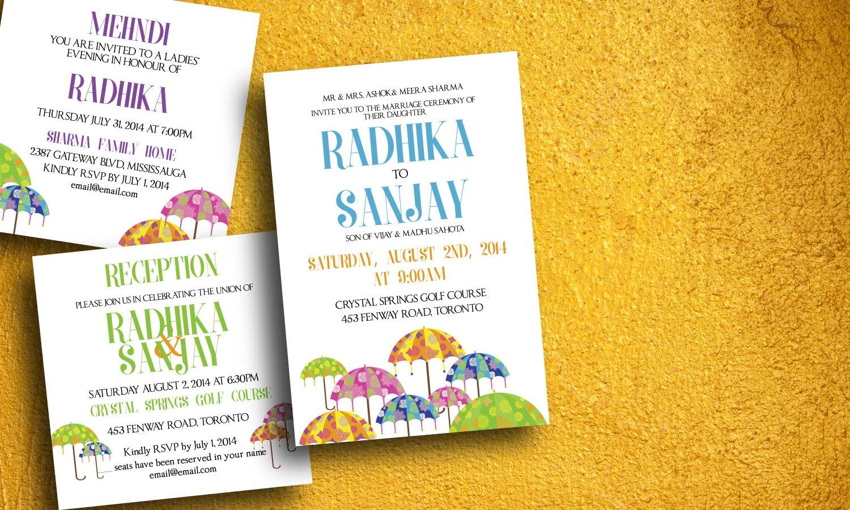 Indian Wedding Invitation Indian Wedding Card Baraat