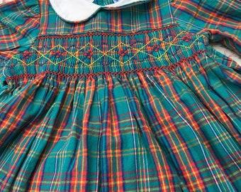 Vintage Jeffery Ohrenstein Hand Smocked Baby Dress 100% Cotton 9 Months