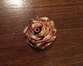 Flower Hairpiece (Dark Gold)