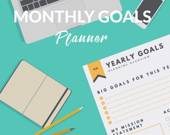 Monthly Goals Planner and Workbook for Small Business Owners | Printable