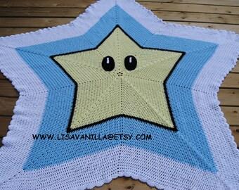 Power up star/ crochet pattern/ mario brothers/ nintendo/ PDF download