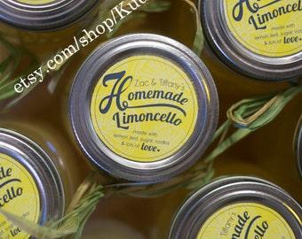 Set of 20 Custom Lemonade, limoncello, lemoncello, lemon salt scrub, lemon candy 2 inch round circle stickers mason jar labels party favors