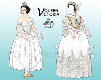 Queen Victoria Paper Doll
