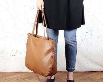 Ginger shoulder bag Vegan leather bag Ginger cross body bag Vegan tote bag Ginger everyday bag Tote with zipper Vegan gift for girlfriend PC