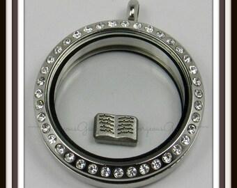 Open Book Floating Charm for Glass Locket / Floating Locket / Memory Locket