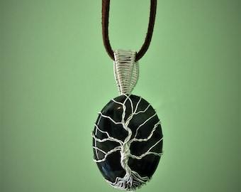 kambaba jasper tree of life pendant