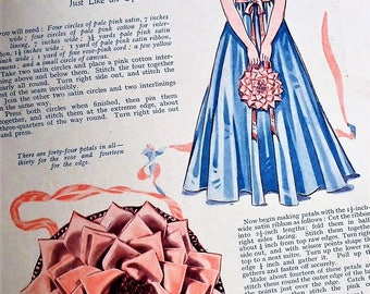Vintage Sewing Book 1920s 1930s Book of Good Needlework Number Four No 4 UK 20s 30s knitting patterns doll's clothes Little Red Riding Hood