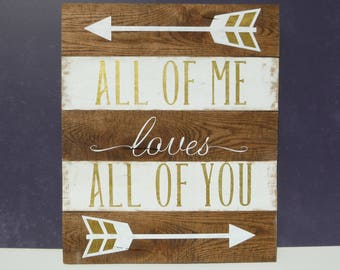 All of Me Loves All Of Me Reclaimed Wood Sign