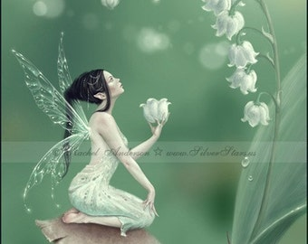 Lily Of The Valley Flower Fairy Kunstdruck/Poster
