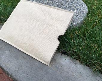 Leather iPad slip case