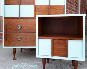 SOLD***Restyled Mid Century Modern Dresser and Nightstand Set-Free Delivery in Ottawa