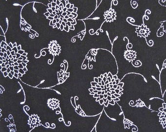 Blackwork Quilt Fabric by Carol Roeda, for Four Corner Designs, A.E. Nathan Co., 100 Percent Cotton, Fabric by the Yard, Quilting Fabric