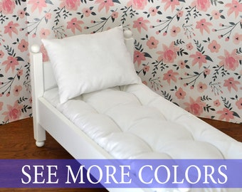 Custom doll mattress - solid color / doll pillow / Custom size and any color / doll bedding