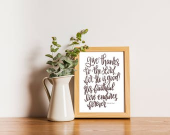 Psalm 136:1 Print