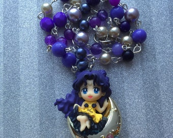 Luna // Human Version // Sailor Moon // Beaded Necklace