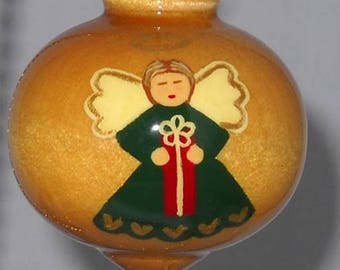 Hand Painted Christmas Ornament, Angel Christmas Tree Decoration, WBO-17G