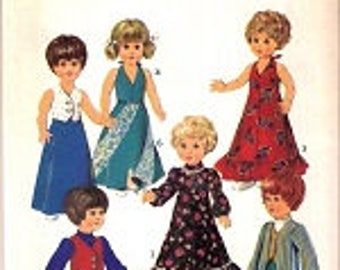 Vintage Doll Clothes Sewing Pattern - Style 4884