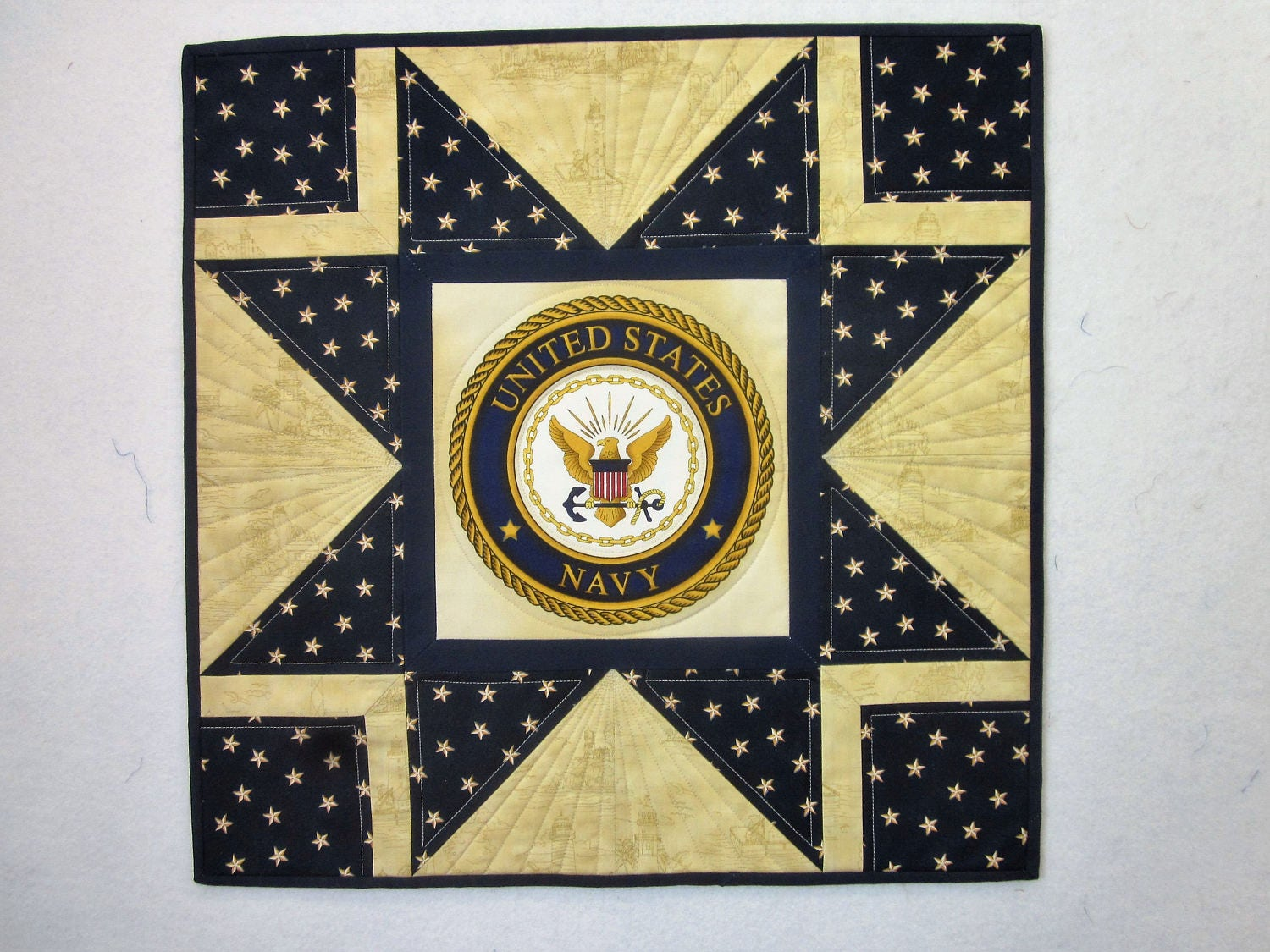 United States Navy Wall Hanging Quilt; US Navy quilt; Navy quilt; US ...
