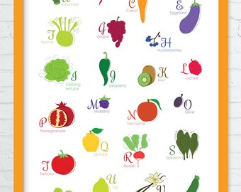 8 x 10 in Printed Poster - Alphabet - ABC-Book
