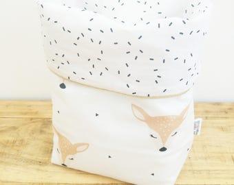 Fabric basket DOE OH my deer