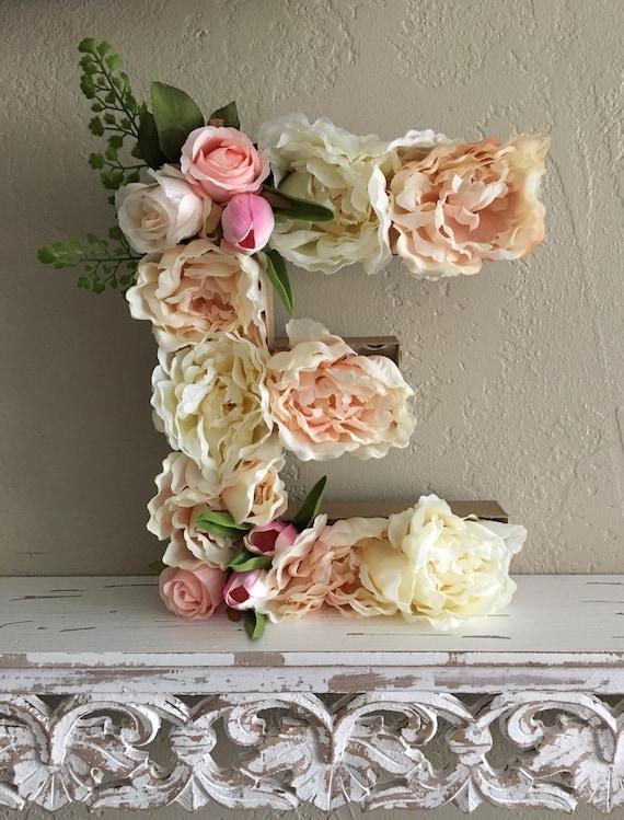 Paper mache floral letter v flower letter v baby girl thecheapjerseys Gallery