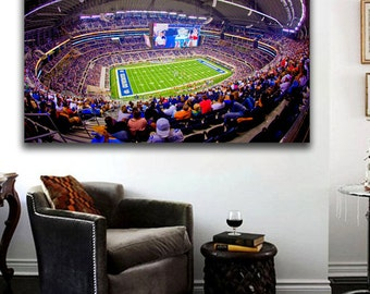 AT&T Stadium Dallas Cowboys Stadium Canvas Print 36 x 24 Panoramic Effect