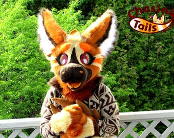 Toffee the Dutch Angel Dragon - Fursuit Partial Ready to Ship and Wear Artist Designed with Fursuit Head Paws Tail and Badge Premade