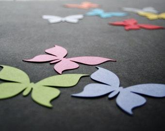 Any size 50 pcs paper BUTTERFLIES, paper die cut, butterfly die cut, butterfly cutout, cardboard butterflies, Wedding decor, Nursery decor