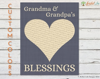 Personalized Gift for Grandparents, Personalized Gift from Kids, Grandkids, Holiday, Birthday, Anniversary Gift from Grandchildren